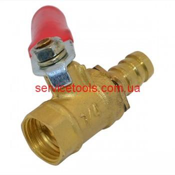 Кран клапан шариковый для компрессора (резьба внутренняя/штуцер)