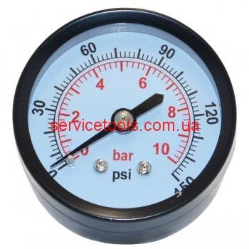 Манометр для воздушного компрессора (большой металл)резьба 13мм.