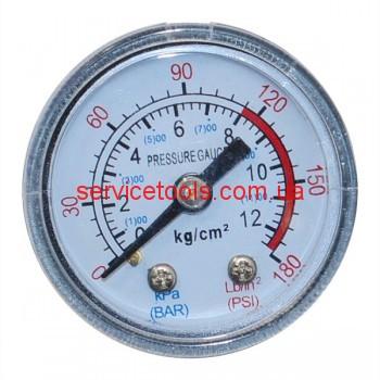 Манометр для воздушного компрессора (малый пластмассовый) резьба 10мм.