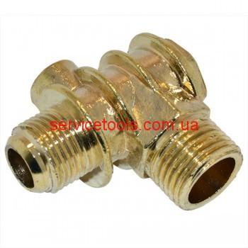 Обратный клапан на воздушный компрессор большой  (резьба 21/19/9 мм.)