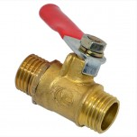 Кран клапан шариковый для компрессора (наружная резьба)