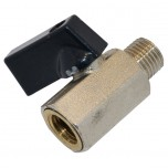 Кран клапан шариковый для компрессора (резьба внутренняя наружная)