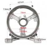 Крышка задняя статора бензогенератора (тип 2) 168F/170F 2-3,5 кВт.