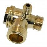 Обратный клапан на воздушный компрессор резьба наружная (резьба10/16/20,5мм.)