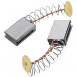 Щетки графитовые 5х10х15 пружина 2 паза контакт 9 мм.