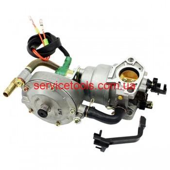 Газовый карбюратор LPG (пропан-бутан) для генераторов 4-6кВт (механизм рычажный)