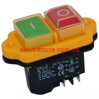 Кнопка бетономешалки тельфер компрессор 15А (4 контакта)