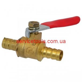 Кран клапан шариковый для компрессора (штуцер/штуцер)