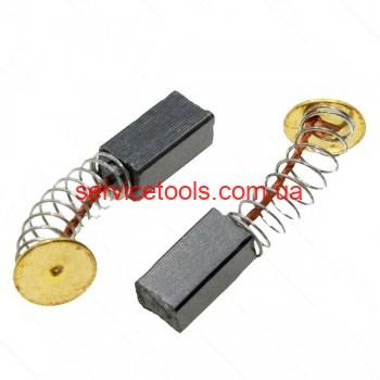 Щетки графитовые 5х6х12 пружина контакт 9 мм.