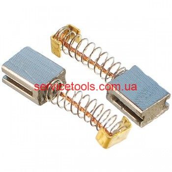 Щетки графитовые 5х8х10 пружина 2 проточки ограничитель.